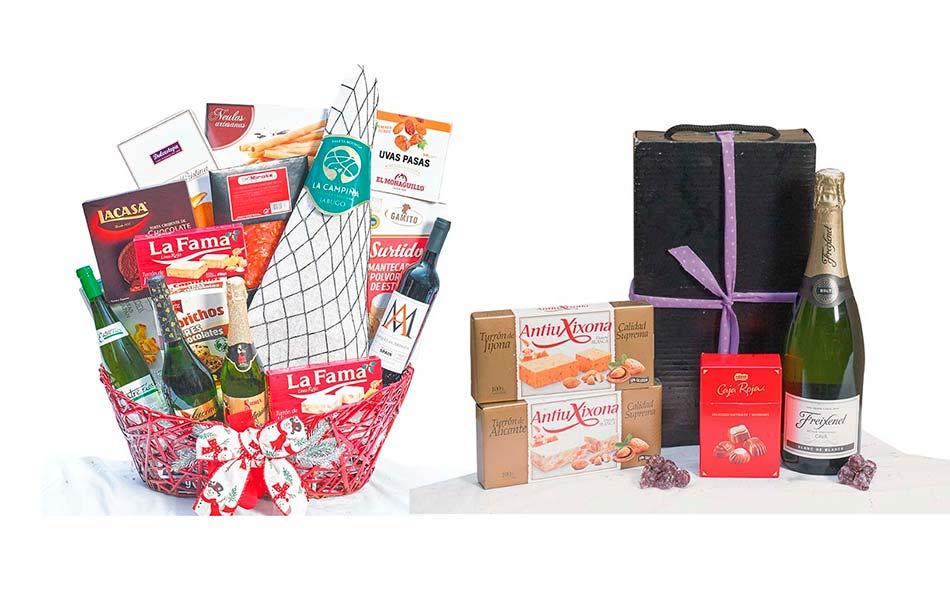 Diferencia entre cestas y lotes de navidad